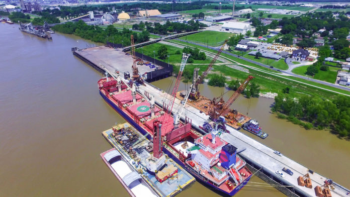 In April, the Port of South Louisiana commemorated the 25th anniversary of operations of its transshipment center, Globalplex Intermodal Terminal