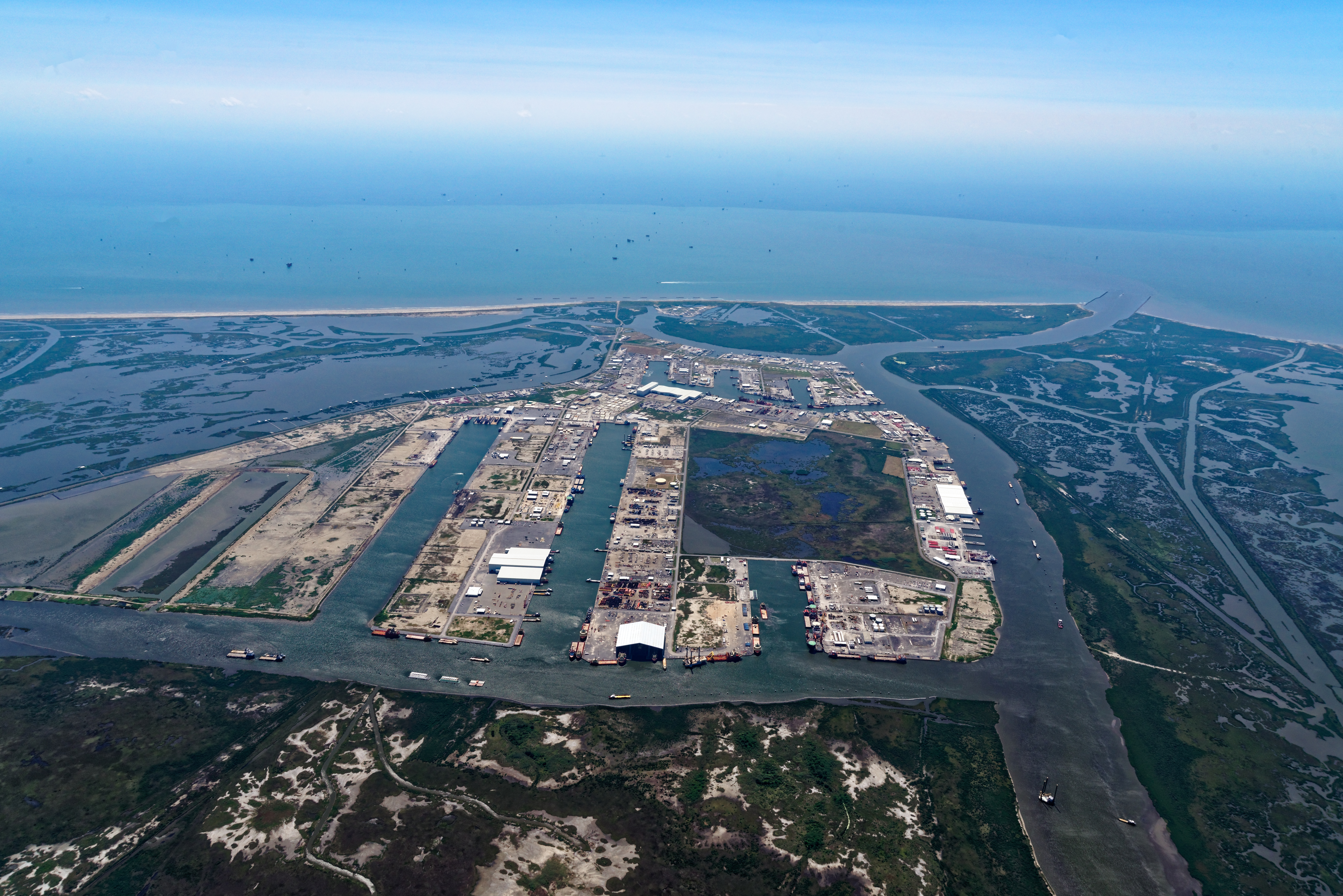 The Water Institute of the Gulf is working at Port Fourchon