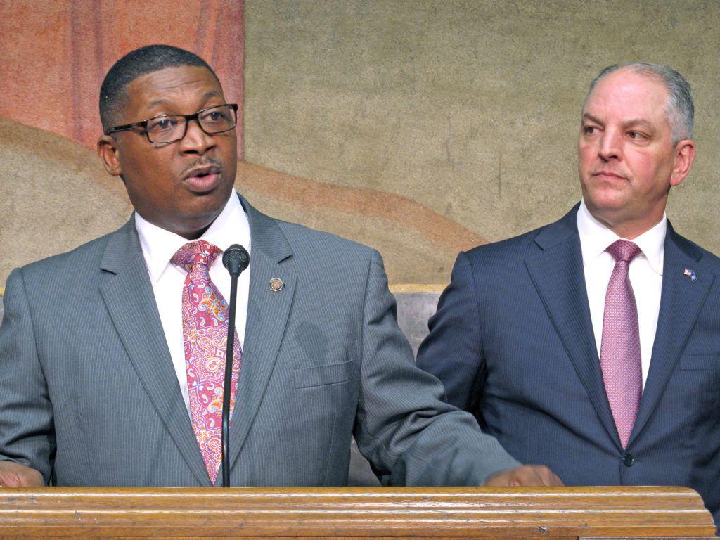 Shawn Wilson and Louisiana Gov. John Bel Edwards